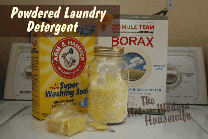 Powdered Laundry Detergent Recipe