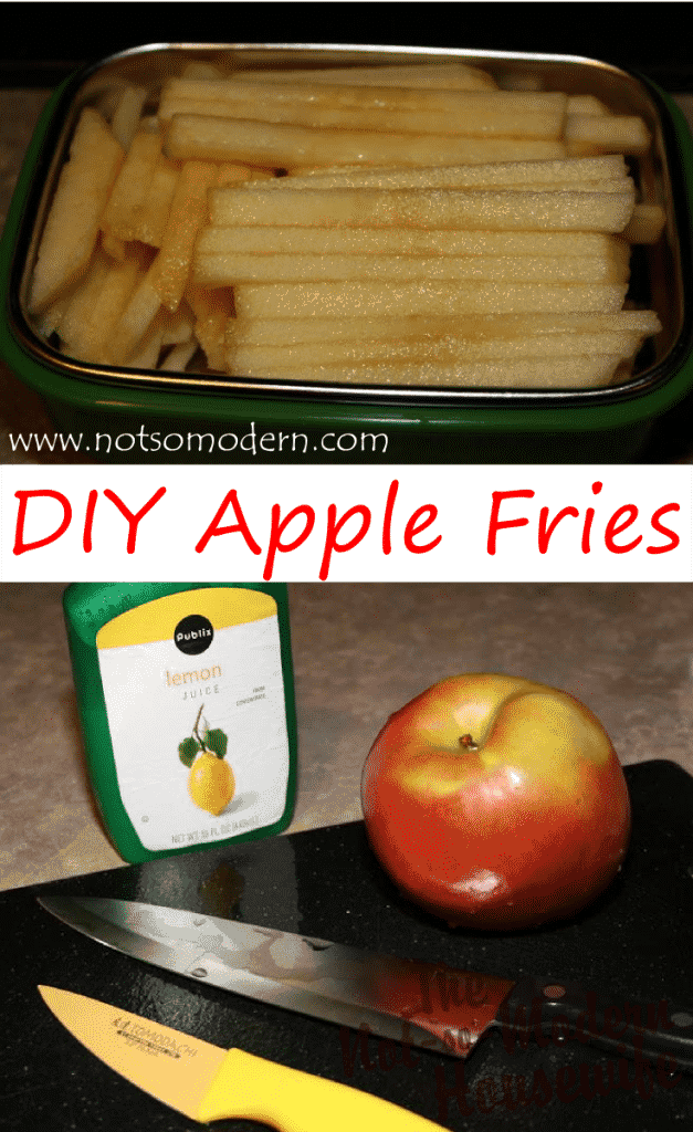 Apple Fries are a great alternative to French Fries, make a convenient snack, and are simple to make. - The Not So Modern Housewife