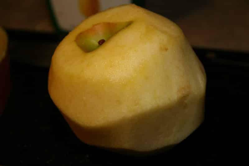 Apple Fries - peel the apple