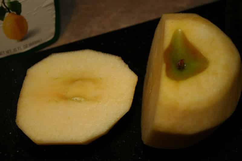 Apple Fries - slice the apple