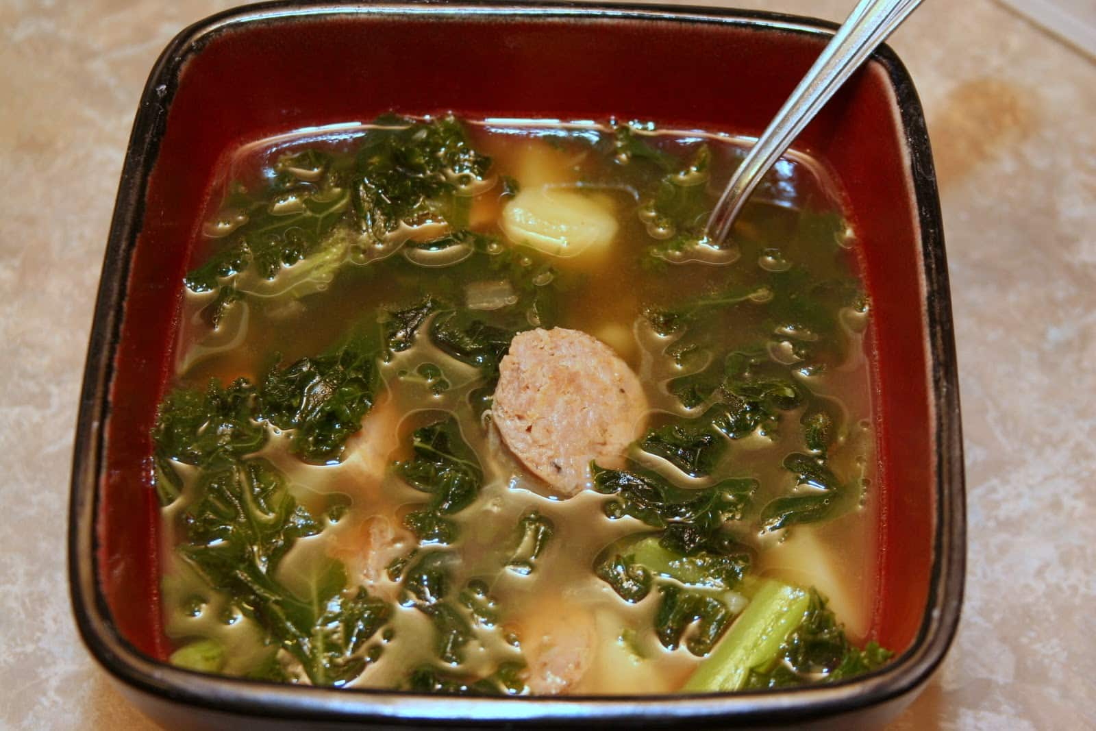 Kale and Potato Soup with Turkey Sausage - The Not So ...
