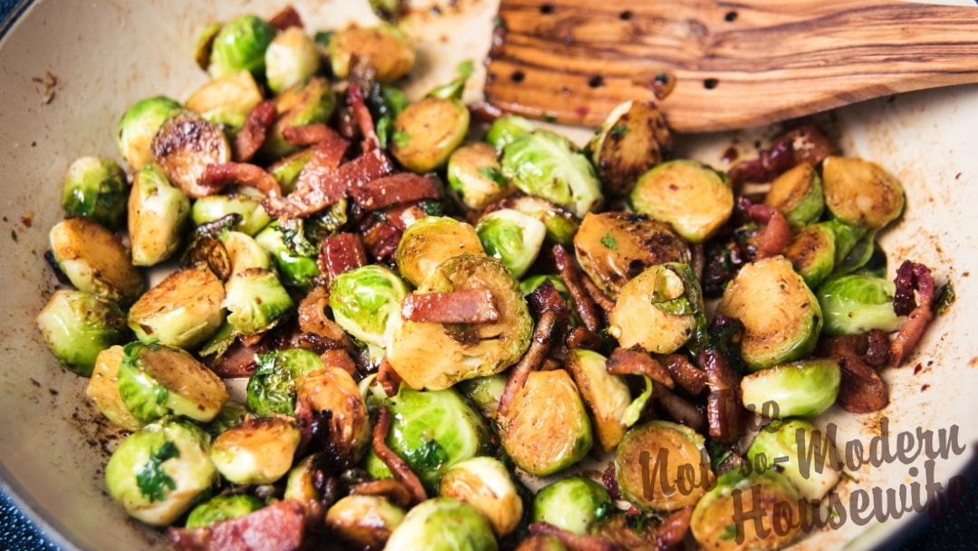 Sauteed Brussel Sprouts with Bacon
