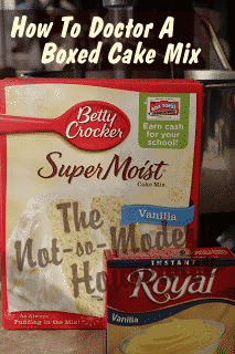 How to Doctor a Boxed Cake Mix - The Not So Modern Housewife
