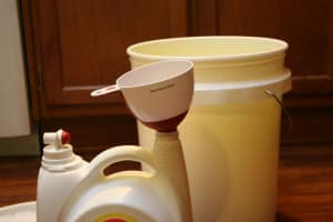 Homemade Liquid Laundry Detergent - The Not So Modern Housewife