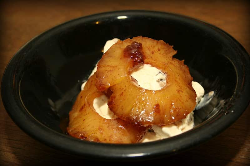 Caramelized Pineapple with Rum