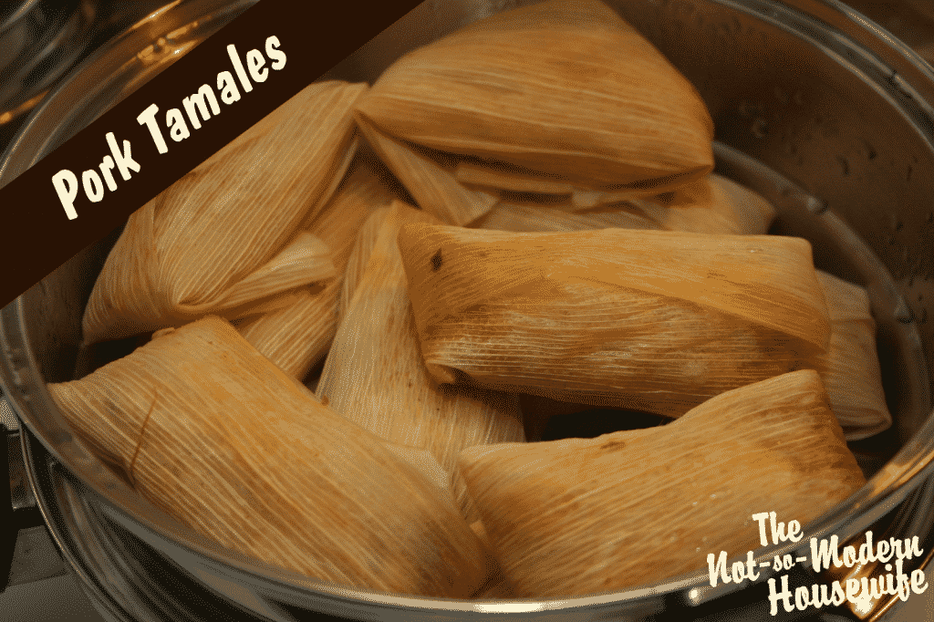 Tamales are a popular dish in many Hispanic households around Christmas time. They can be a lot of work, especially if making a larger batch, so often the whole family would get involved in the cooking process.
