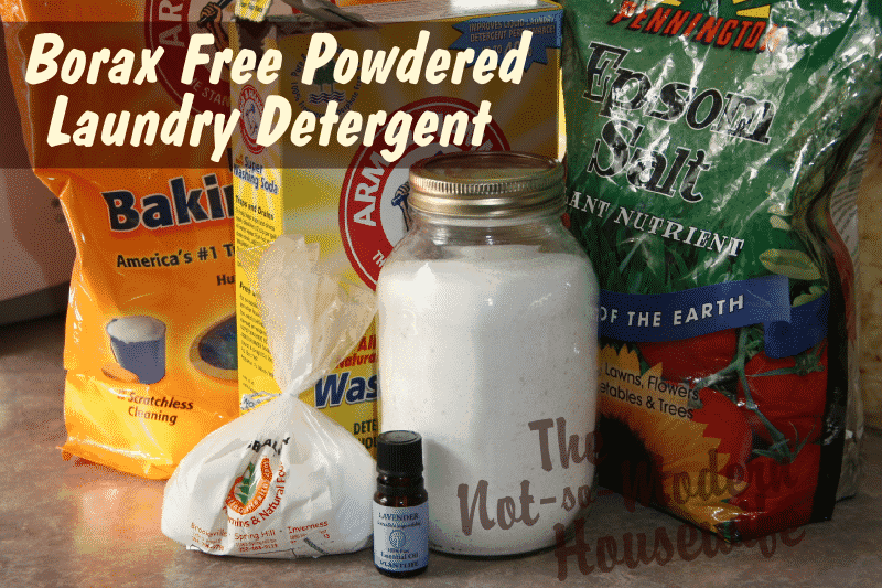Borax Free Powdered Laundry Detergent