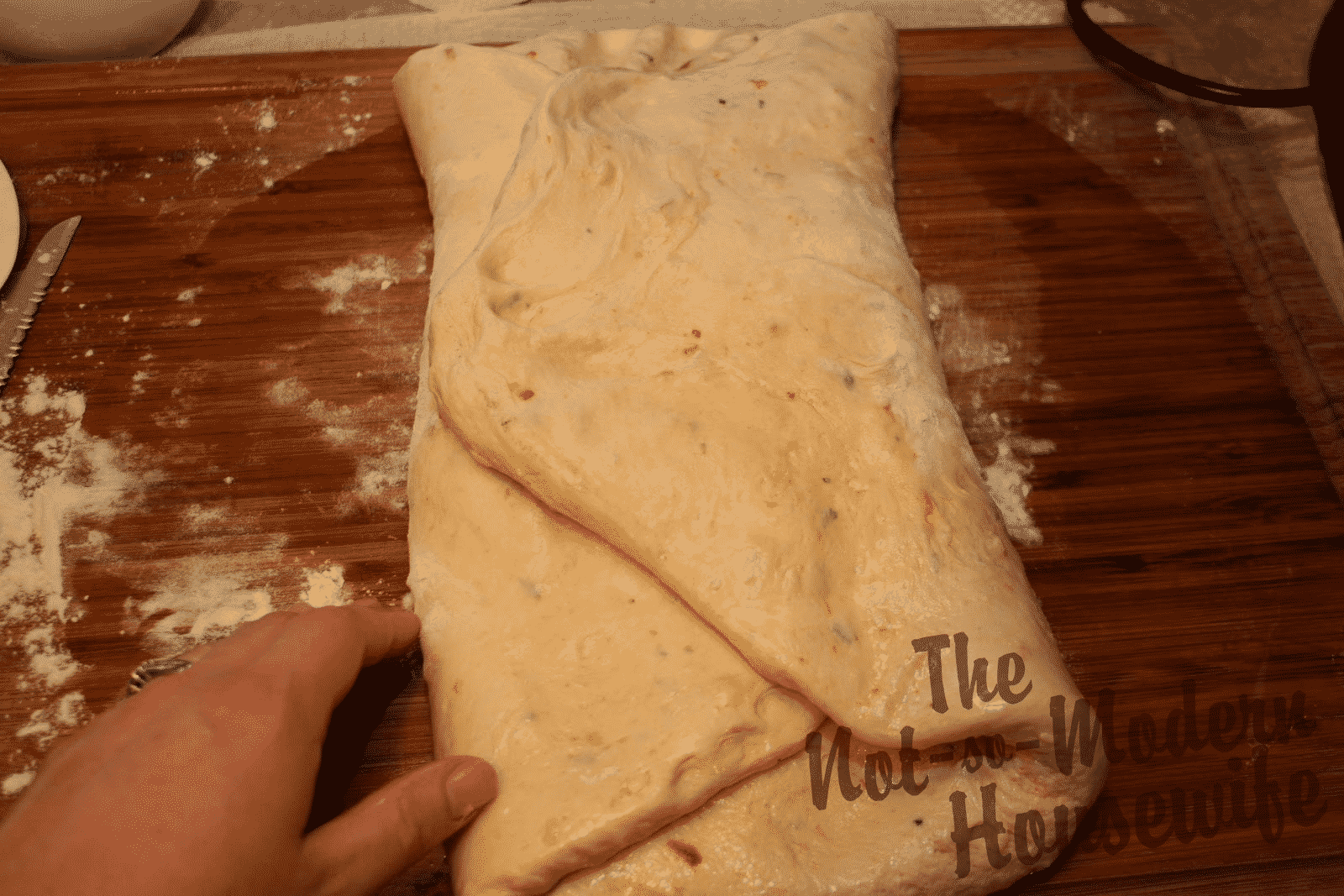 folding bread dough