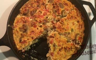 Cast Iron Vegetable Frittata