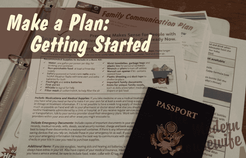 Make a Plan: Getting Started
