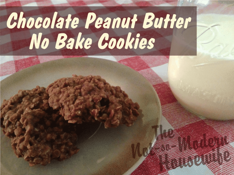 Chocolate Peanut Butter No Bake Cookies
