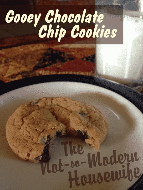 Gooey Chocolate Chip Cookies