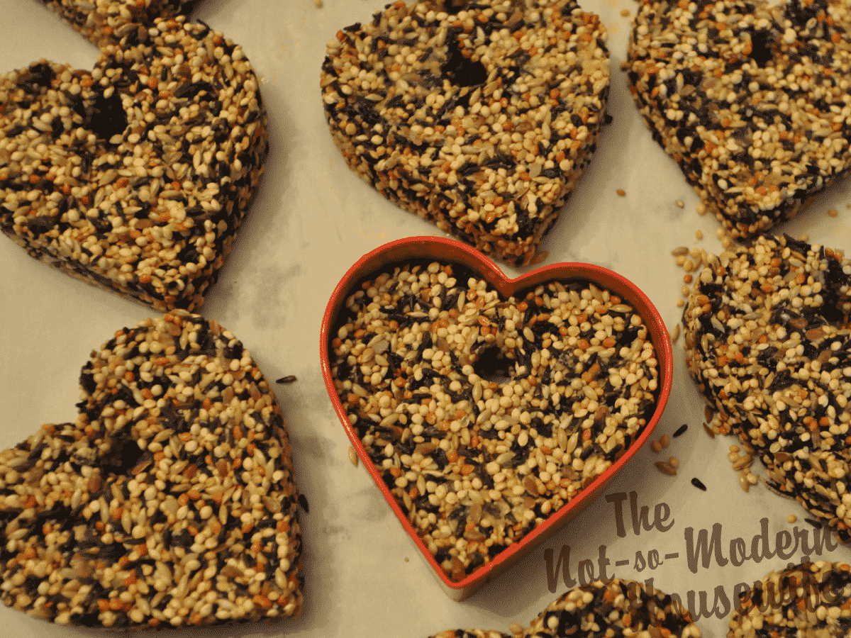 Heart-Shaped Bird Seed Ornaments - The Not So Modern Housewife