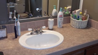 Clean your bathroom a little bit every day, and the whole process will become easier and faster with time. - The Not So Modern Housewife