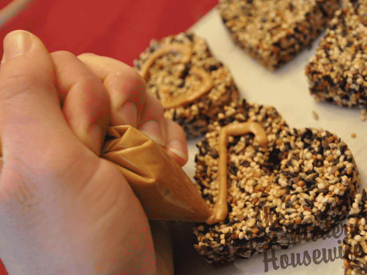 Peanut Butter Decorating Bird Seed Ornaments