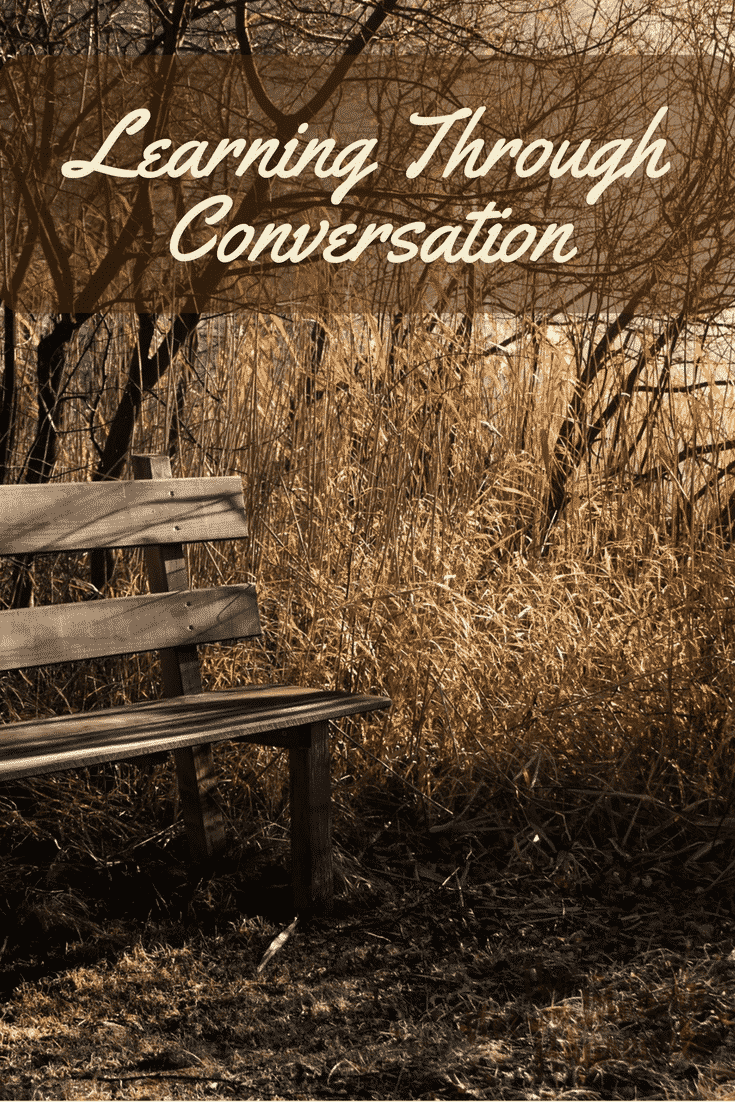 Conversations can happen anywhere, anytime, and on a variety of subjects. Don't overlook the importance of conversations as part of your homeschool curriculum. - The Not So Modern Housewife