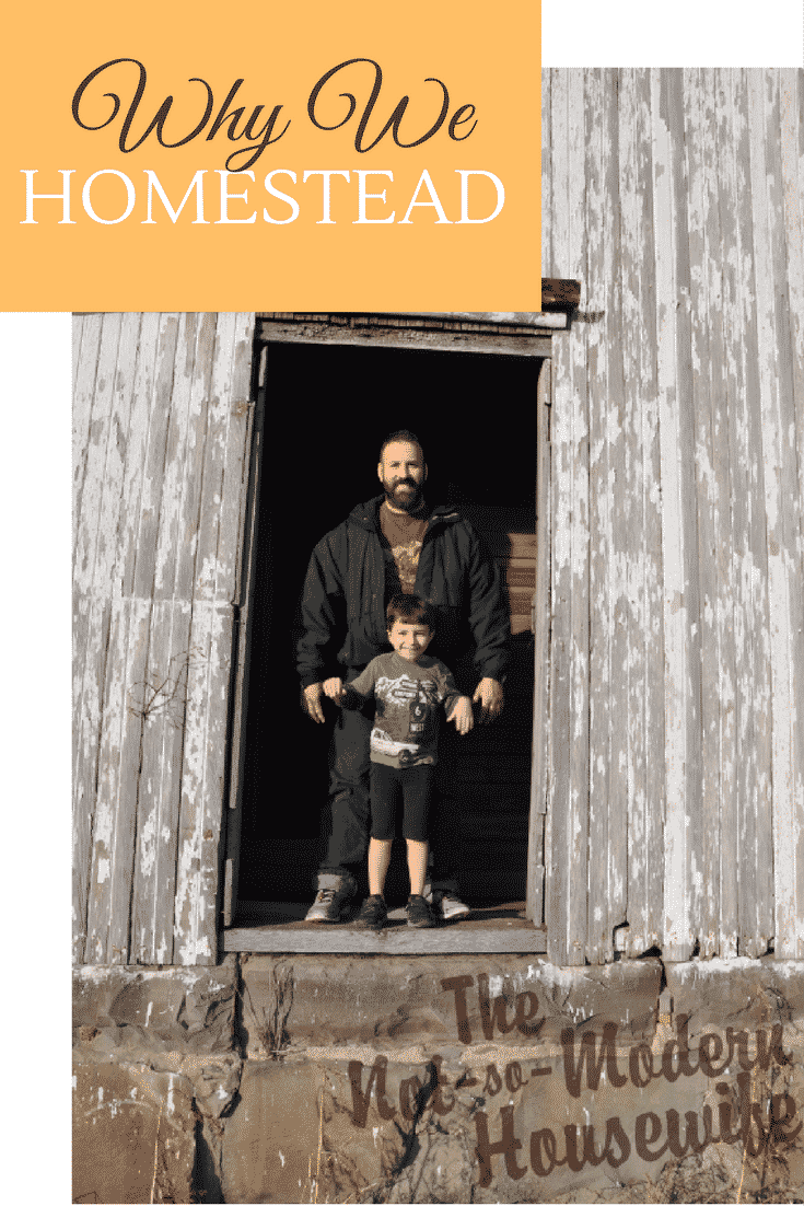 We all have different reasons for why we homestead. They are what make our journeys unique. They are also what bring us together. It is those reasons that make homesteaders stand out, and what make homesteading such a rewarding experience.