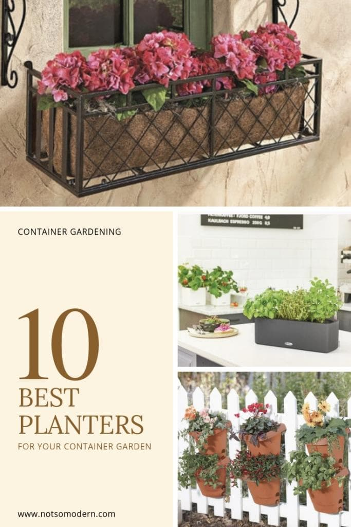 Want to grow vegetables, but limited on space? Many vegetables do great in container gardens. See our choices for the 10 best planters for your container garden to find containers for growing your vegetables on limited space. #gardening #containergardening #vegetablegardening #growsomethinggreen
