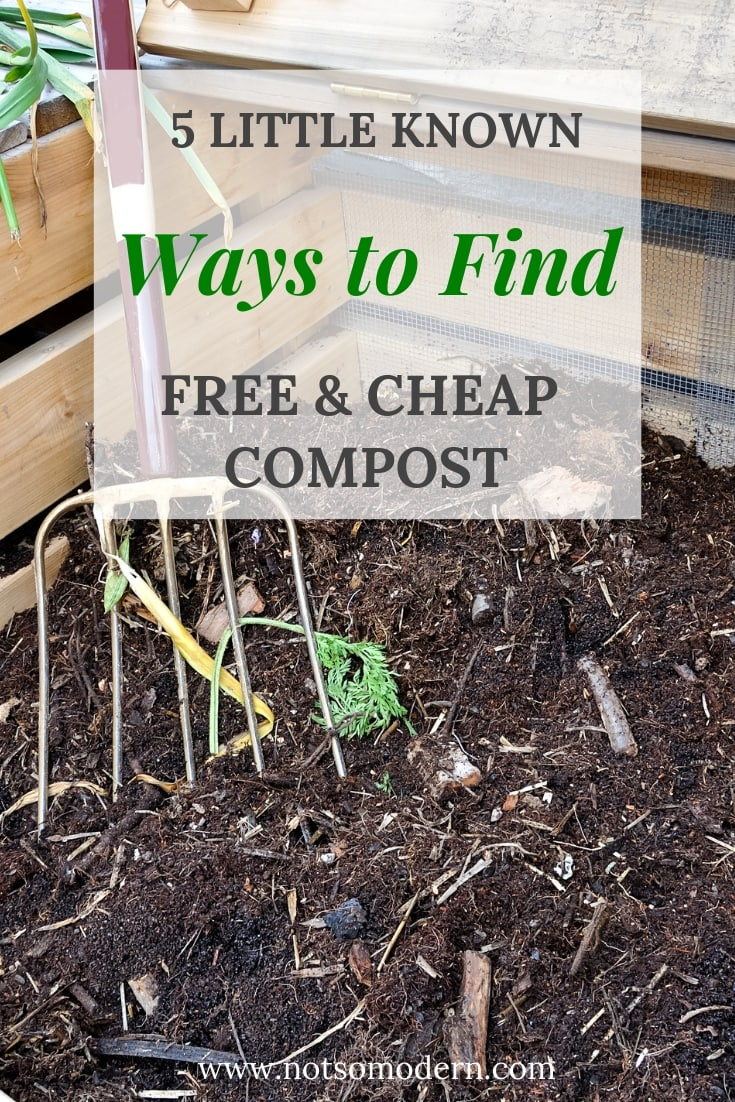 Broad fork in a garden compost bin - 5 Little Known Ways to Find Cheap Compost