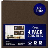 Premium Dark Cork Board Tiles