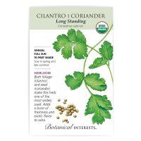 Long Standing Cilantro - Organic, Heirloom